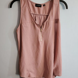 Tempted Rose Pink Thick Strap Tank tank Blouse